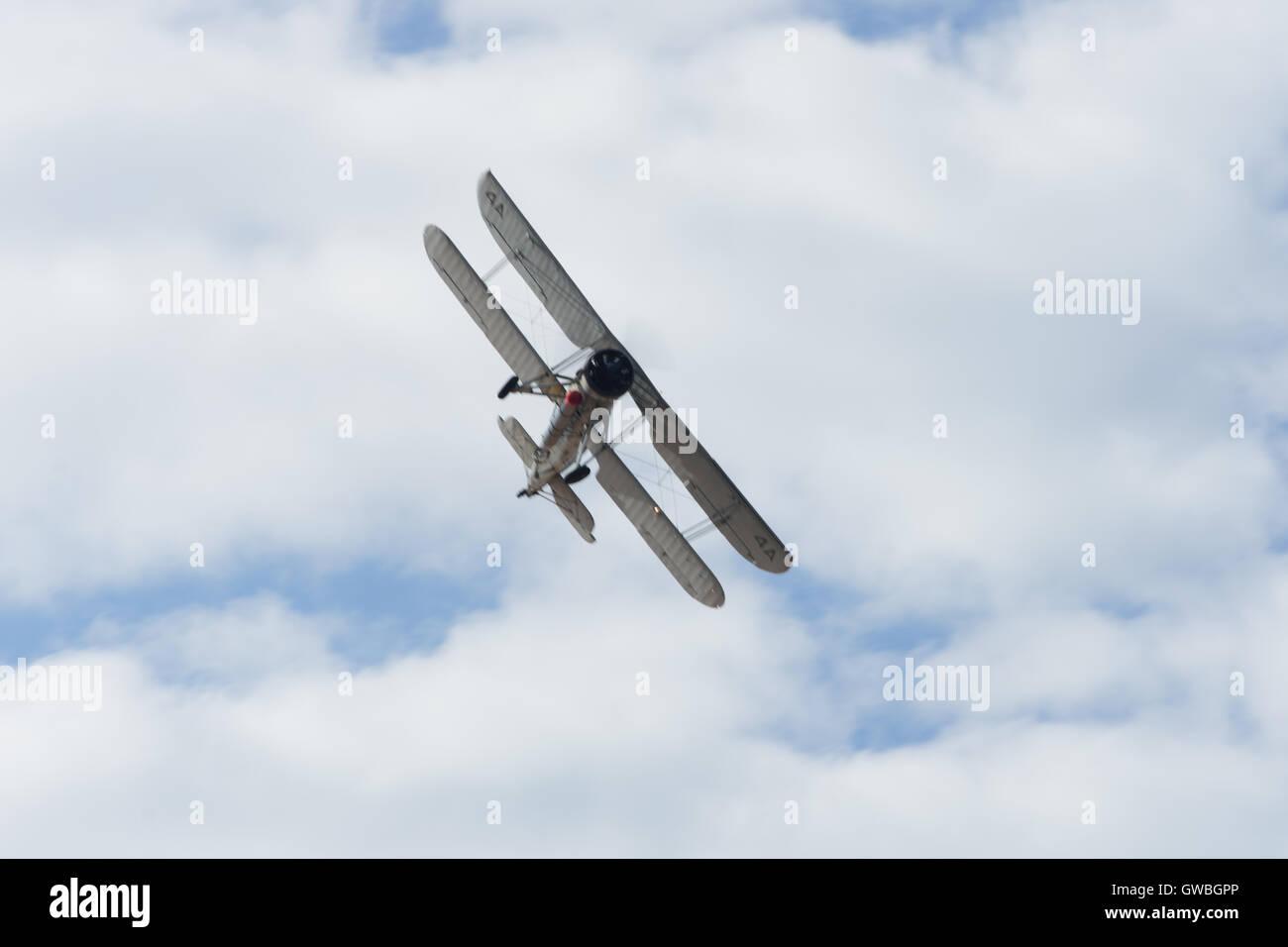 southport airshow fairy swordfish bi-plane plane aircraft Stock Photo