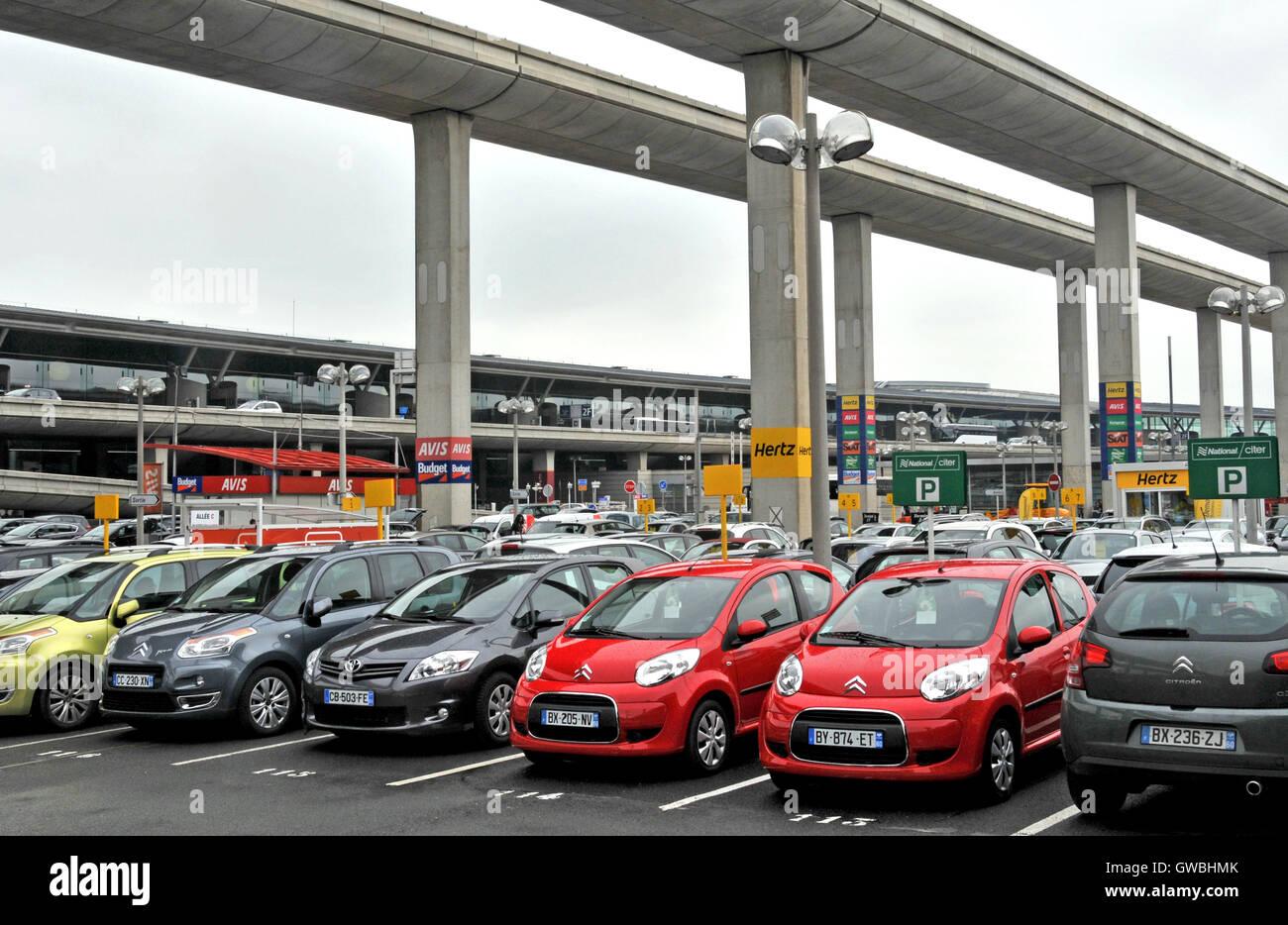 Rent A Car Parking Roissy Charles De Gaulle Airport Paris France