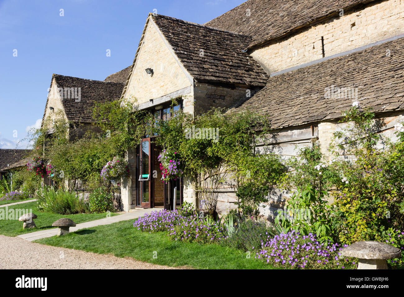 The Great Tythe Barn, Tetbury, Gloucestershire, a 16th century listed building now used as a wedding and conference - Stock Image