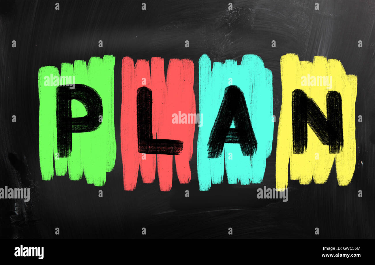 Business plan concept - Stock Image
