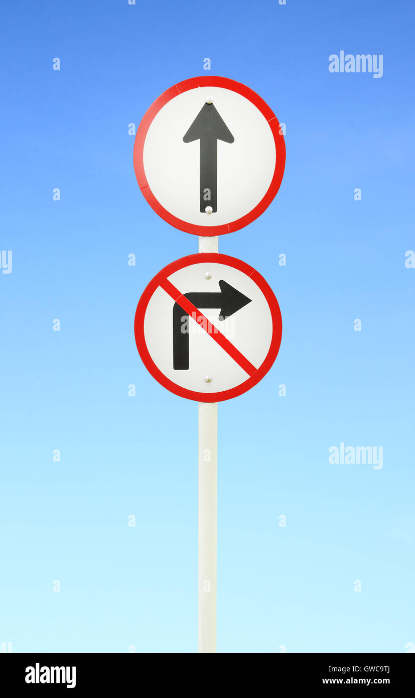 go ahead the way ,forward sign - Stock Image