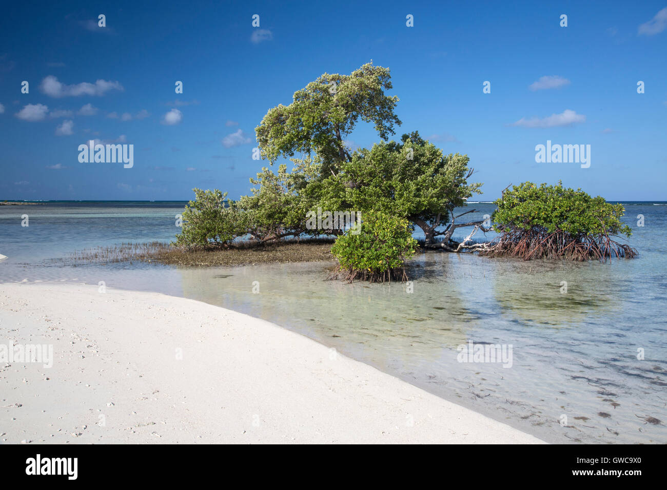 view of Grand Turk Island in Turks and Caicos Islands - Stock Image