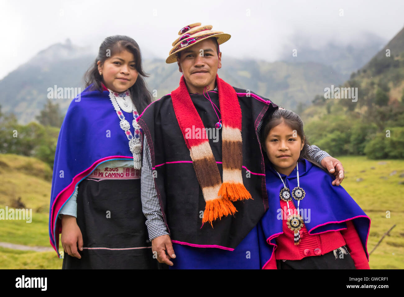 Misak indigenous people, Guambiano inhabits this territory located in the town of Silvia, Cauca. There harvested - Stock Image