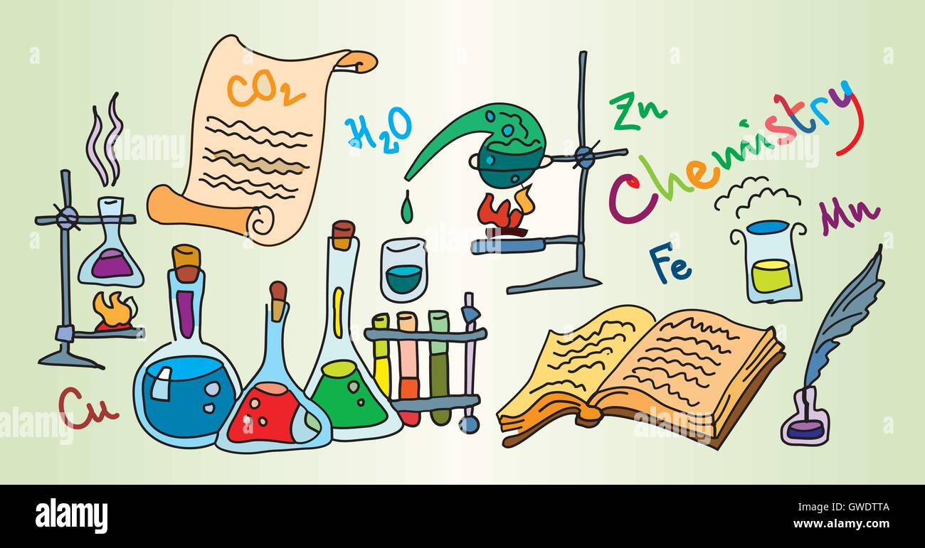 Chemistry Lab - Stock Vector