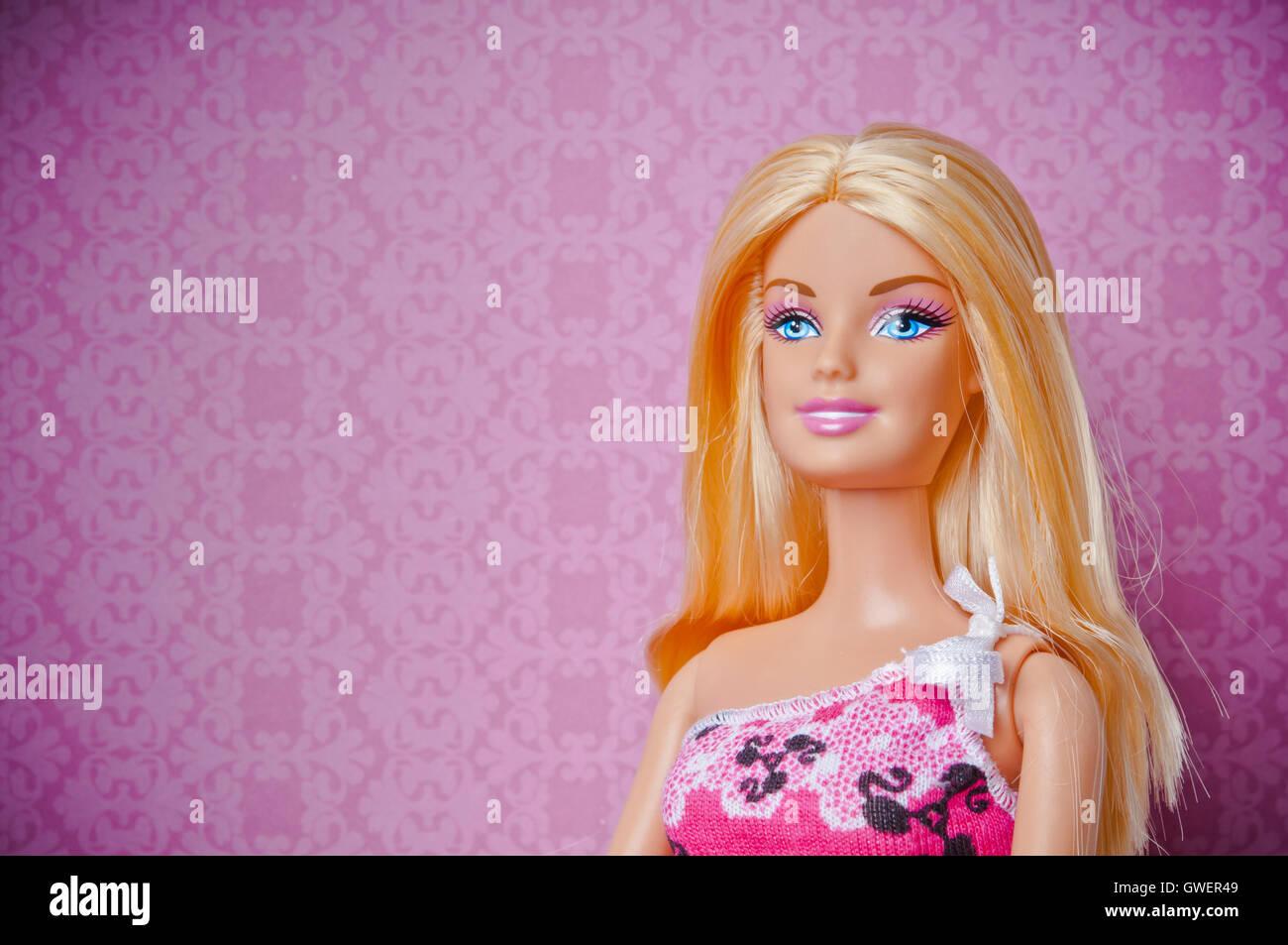 blonde Barbie doll - Stock Image