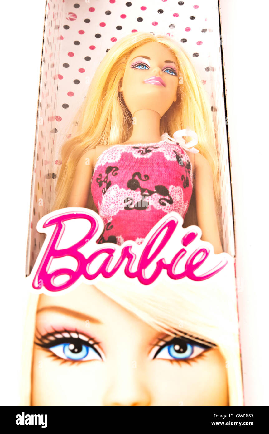 Barbie doll box - Stock Image