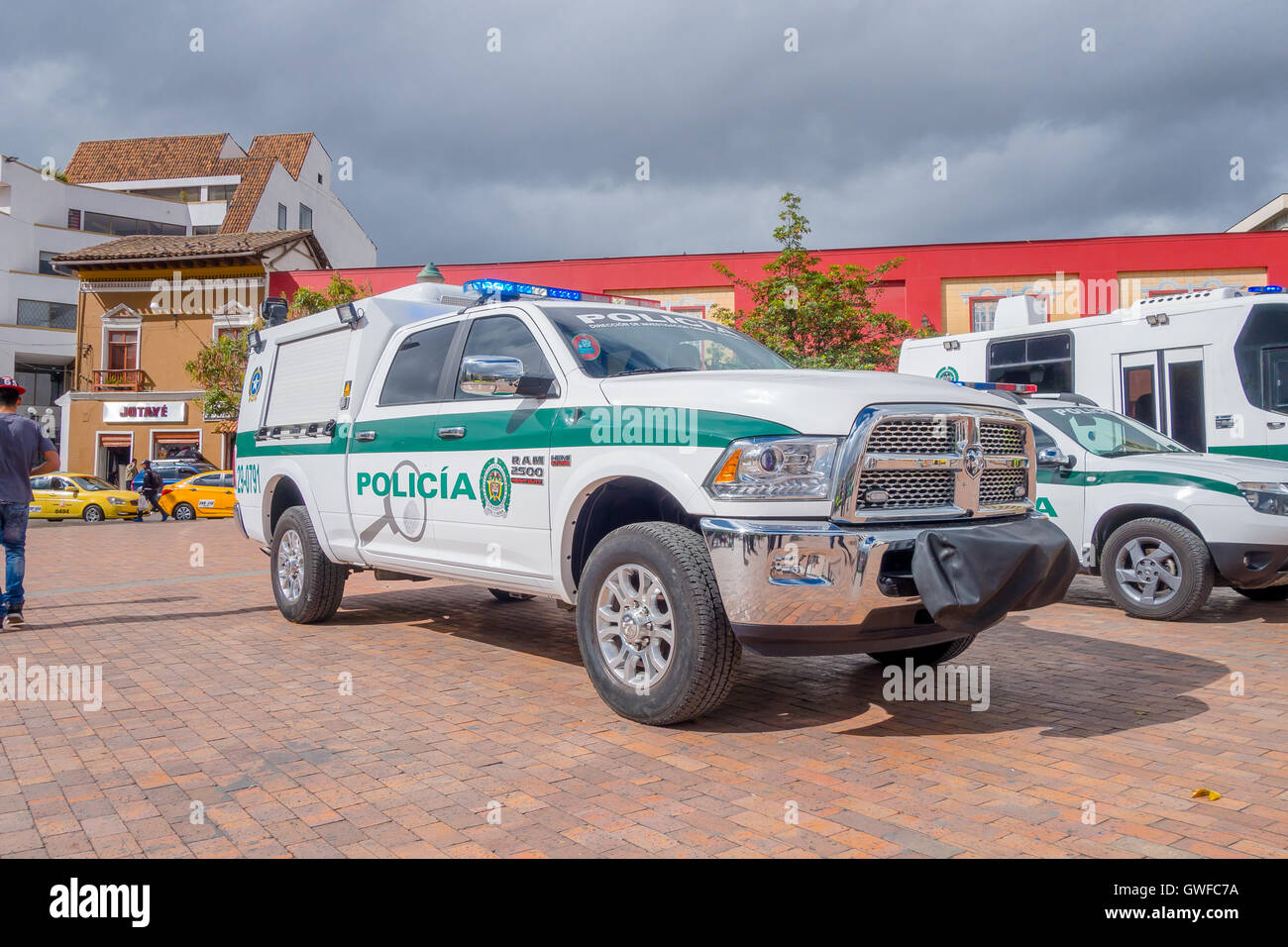 pasto-colombia-july-3-2016-police-pickup
