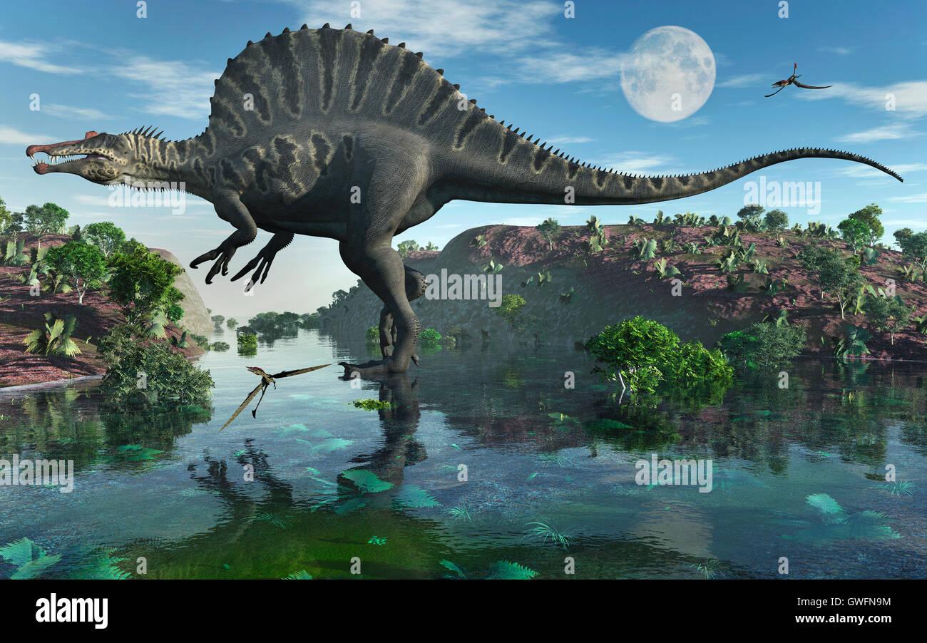 Spinosaurus Dinosaur Stock Photos & Spinosaurus Dinosaur Stock ...