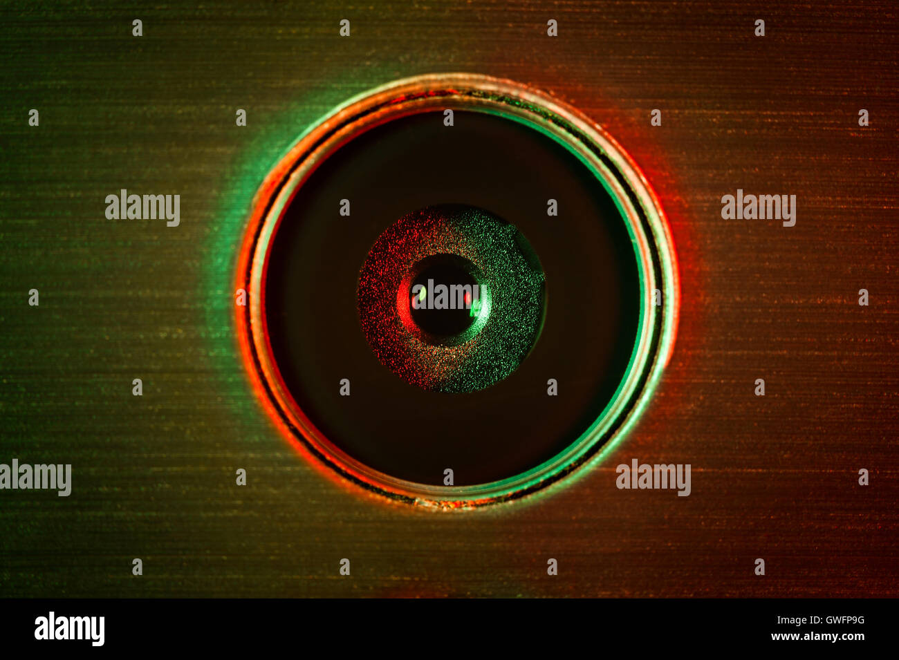 mobile camera lens macro closeup - Stock Image
