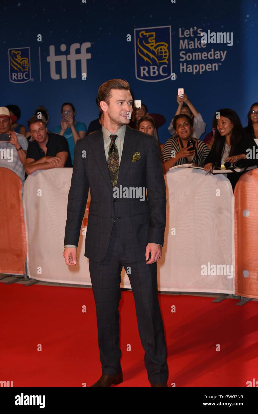 Toronto, Ontario, Canada. 13th Sep, 2016. Musician JUSTIN TIMBERLAKE attends 'Justin Timberlake   Tennessee - Stock Image