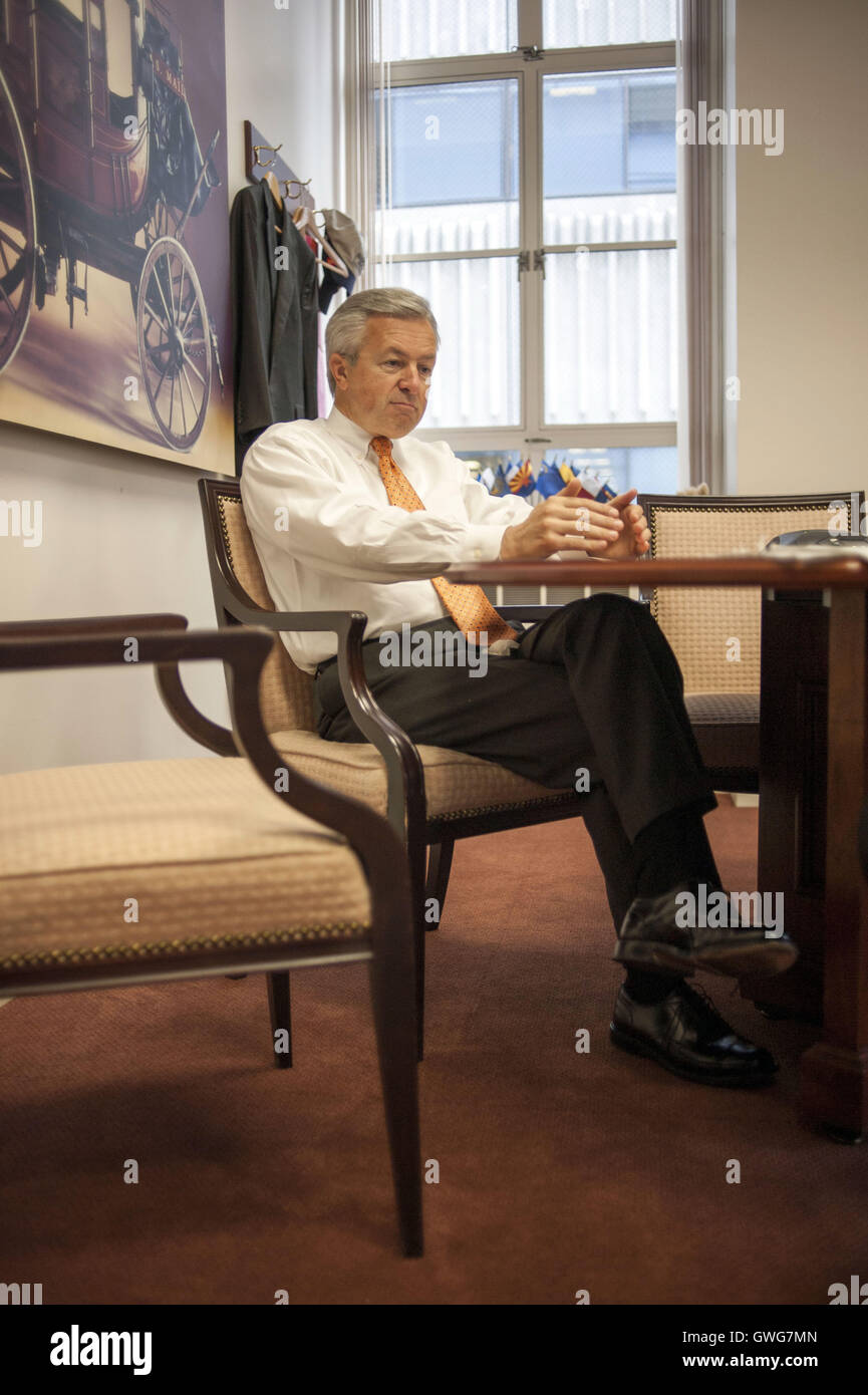 San Francisco, CA, USA. 21st Aug, 2008. Wells Fargo CEO John Stumpf at the Wells Fargo Headquarters in downtown Stock Photo