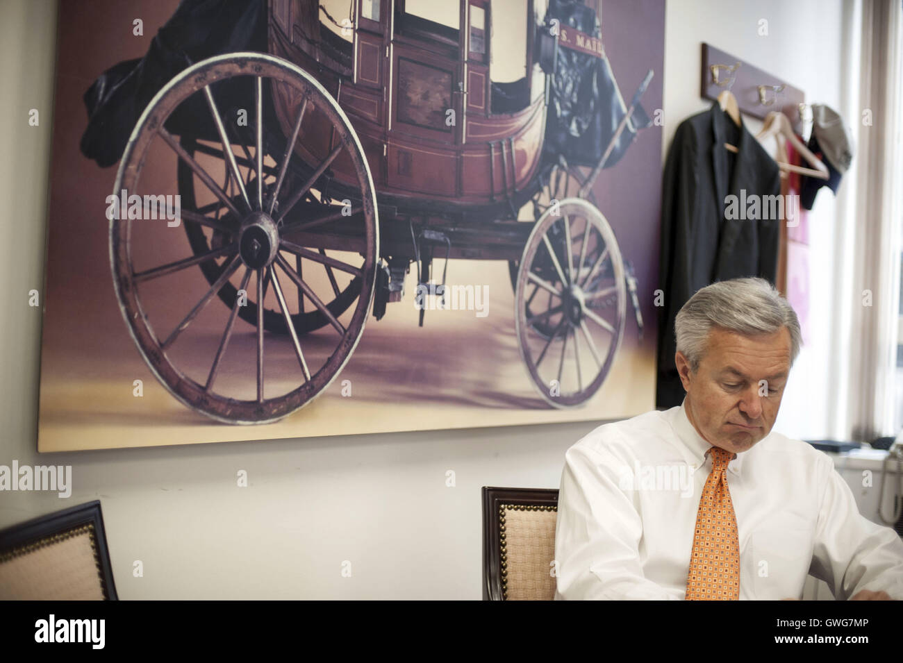 August 21, 2008 - San Francisco, CA, U.S - Wells Fargo CEO John Stumpf at the Wells Fargo Headquarters in downtown Stock Photo