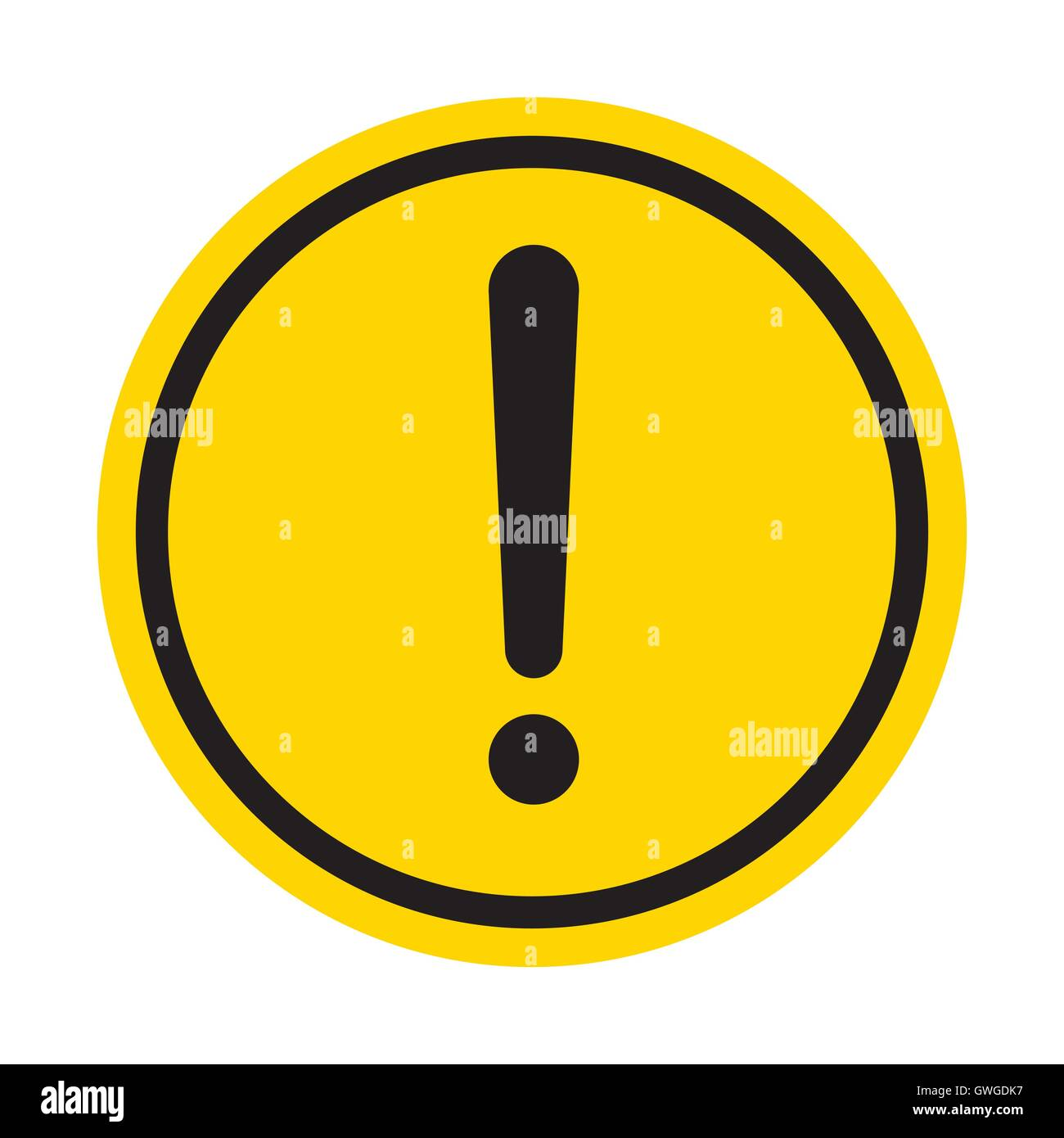 Icons Trading Error Log: Warning, Sign, Exclamation, Pressure, Mark, Yellow, Icon