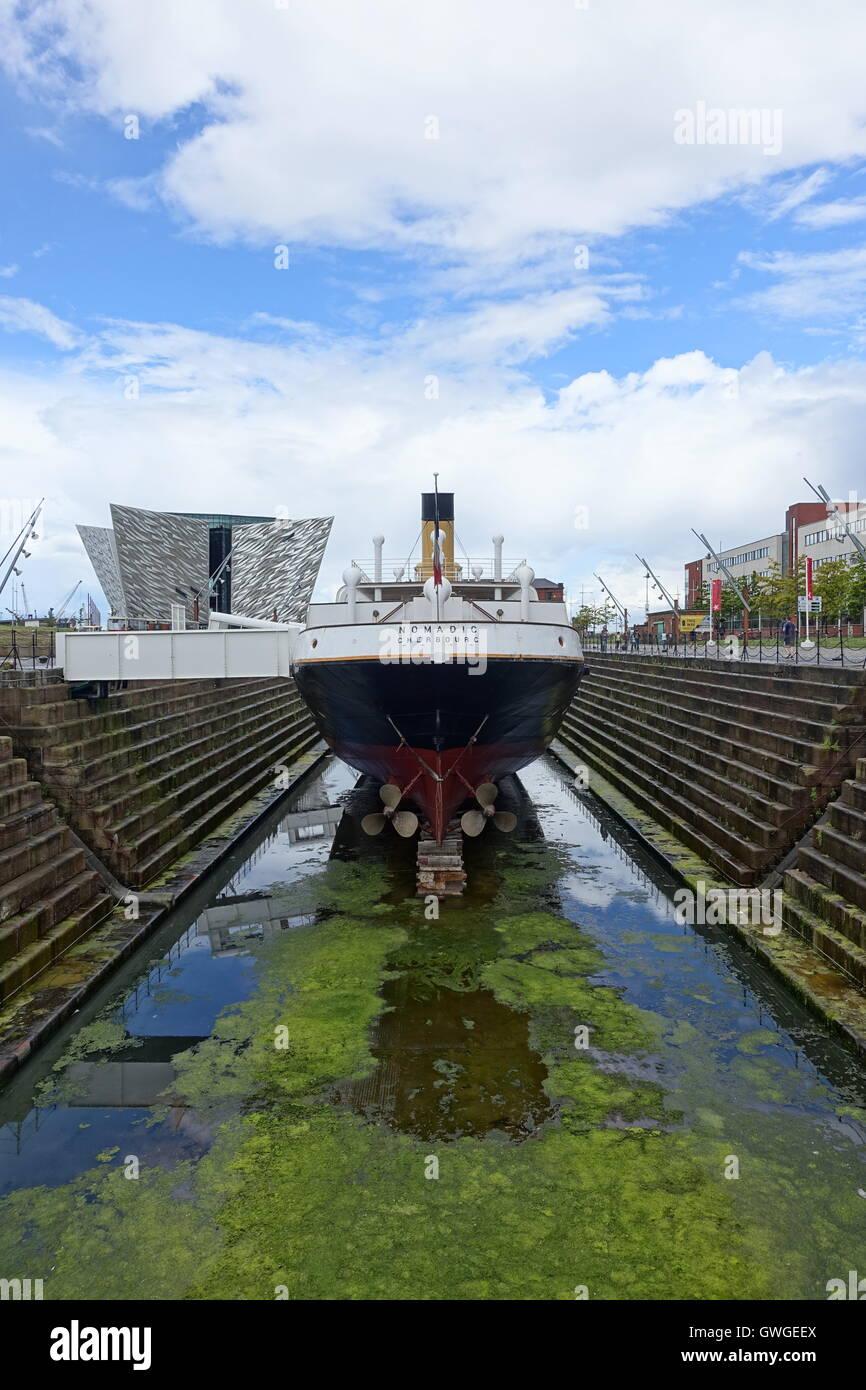 White star lines SS Nomadic, tender ship for the SS Titanic - Stock Image