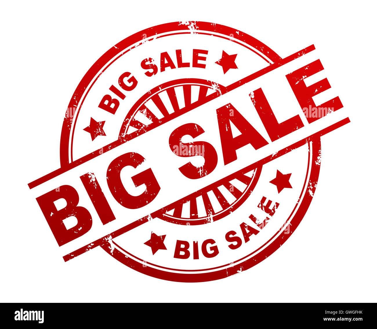 big sale stamp concept  3d illustration - Stock Image