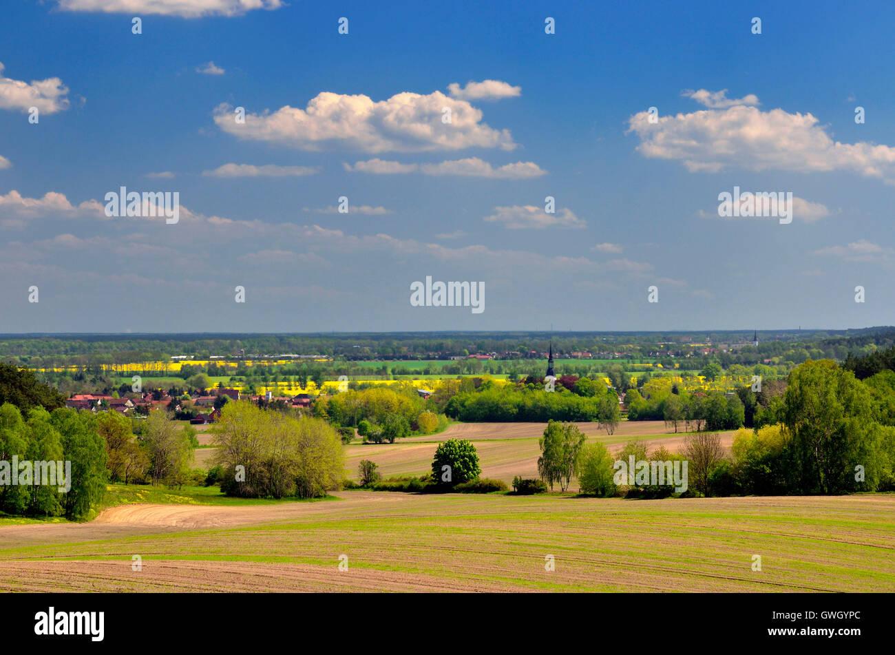 Niederlausitz, Landschaft Der Schraden in der Niederlausitz - Stock Image
