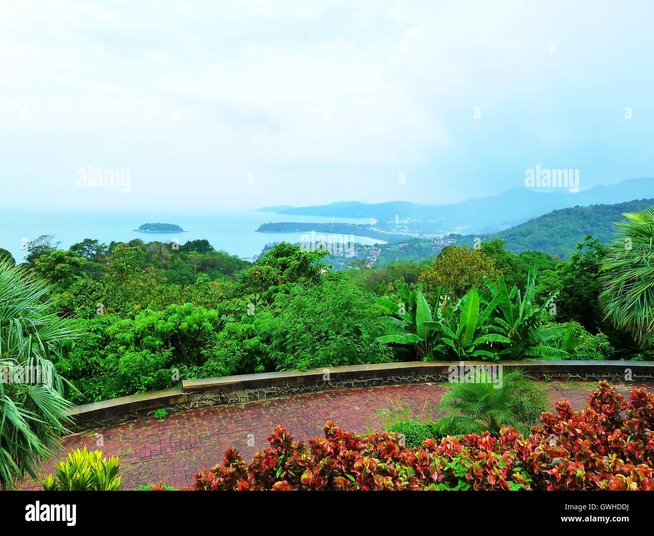 Bird eye view of Phuket viewpoint, Thailand - Stock Image