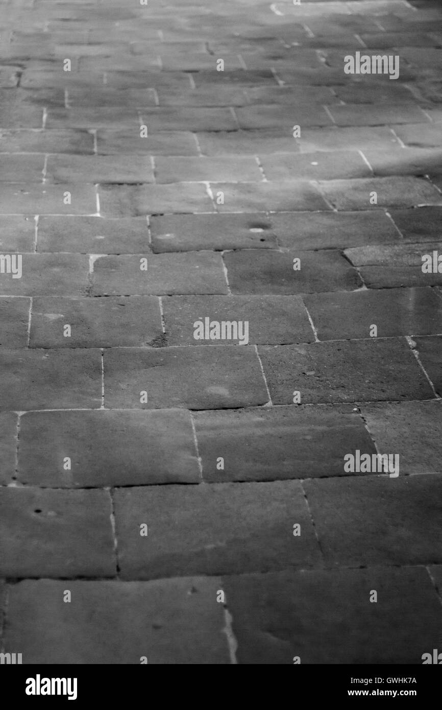 Stone Floor Texture On Black And White