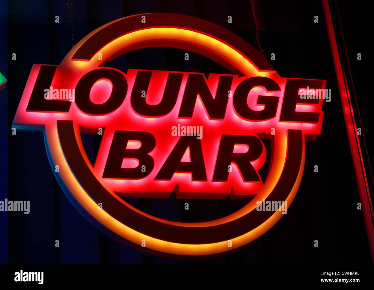 'Lounge Bar', Berlin. - Stock Image