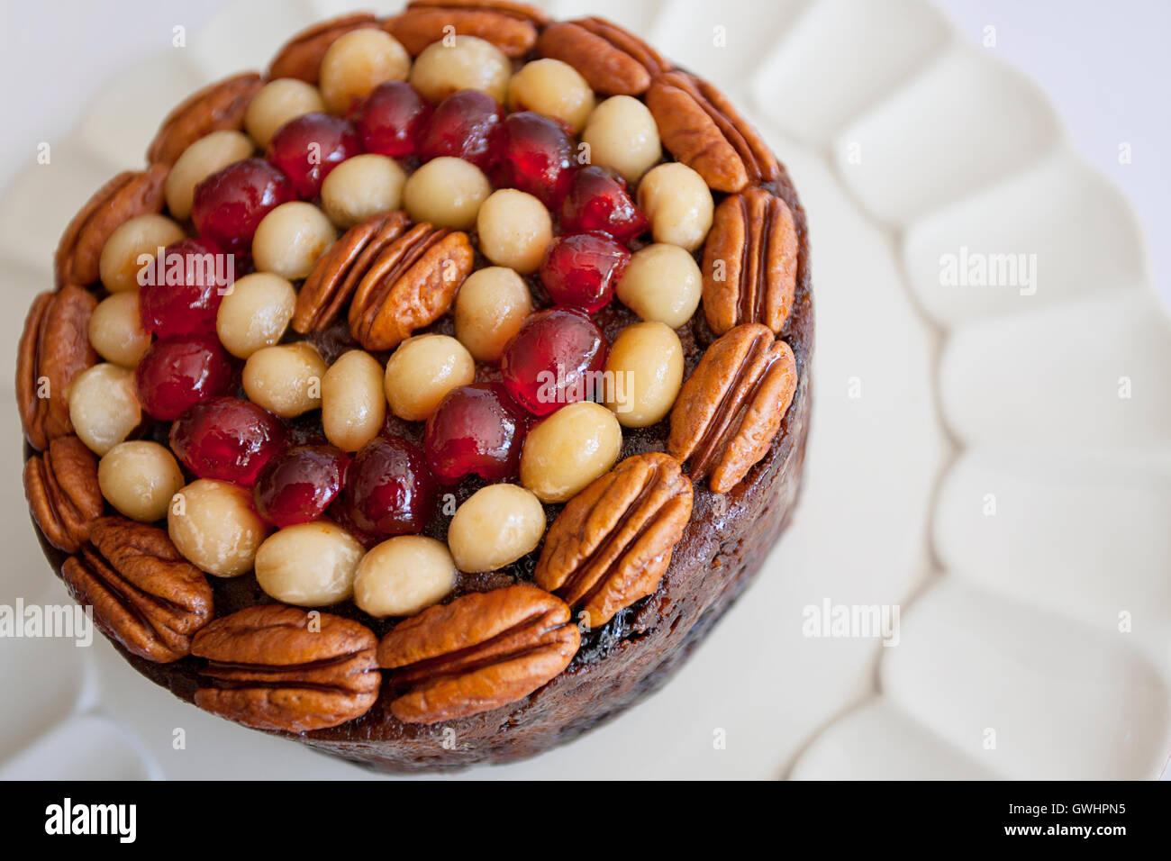 traditional christmas fruitcake stock image - Christmas Fruit Cake Decoration