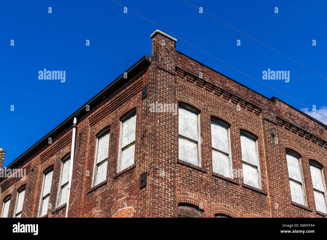 Former Automotive Warehouse Waiting to be Demolished - Urban Blight III - Stock Image