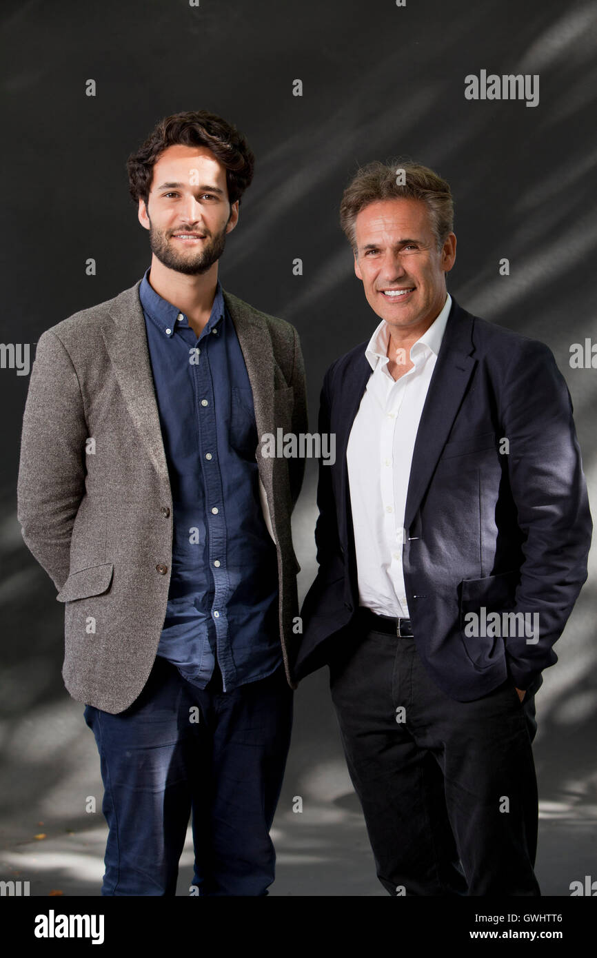Daniel Susskind (left) and Richard Susskind, co-authors, at the Edinburgh International Book Festival. Edinburgh, - Stock Image