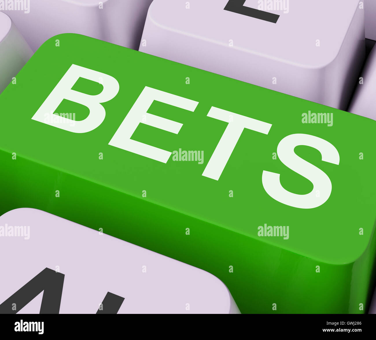 Bets Key Shows Online Or Internet Gambling - Stock Image