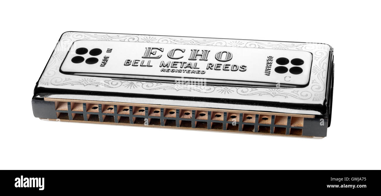 Hohner 54 Echo Harmonica - Stock Image