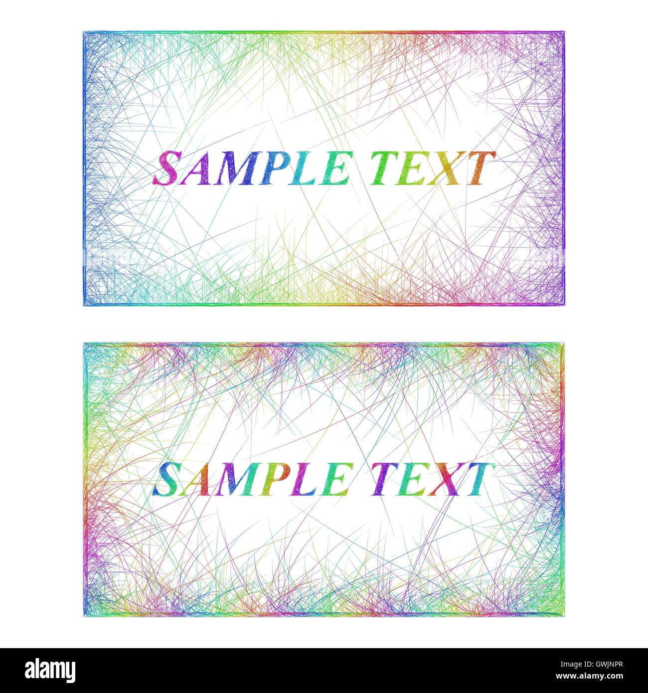 Business card border templates in rainbow colors stock vector art business card border templates in rainbow colors flashek Image collections