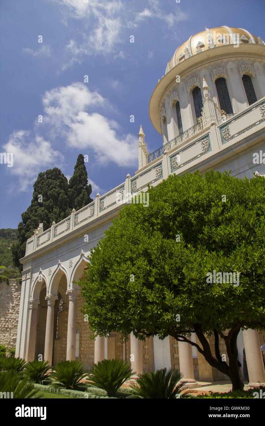 Baha'i Temple in Haifa, the tomb of the Bab, one of the central figures of the Baha'i Faith.Israel - Stock Image