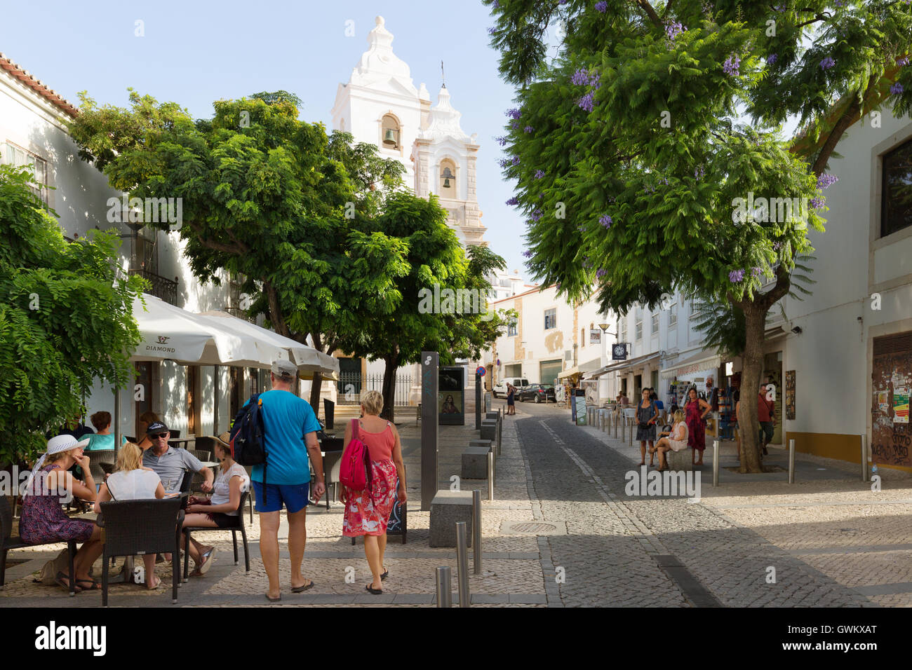 Lagos town centre, Algarve, Portugal, Europe - Stock Image