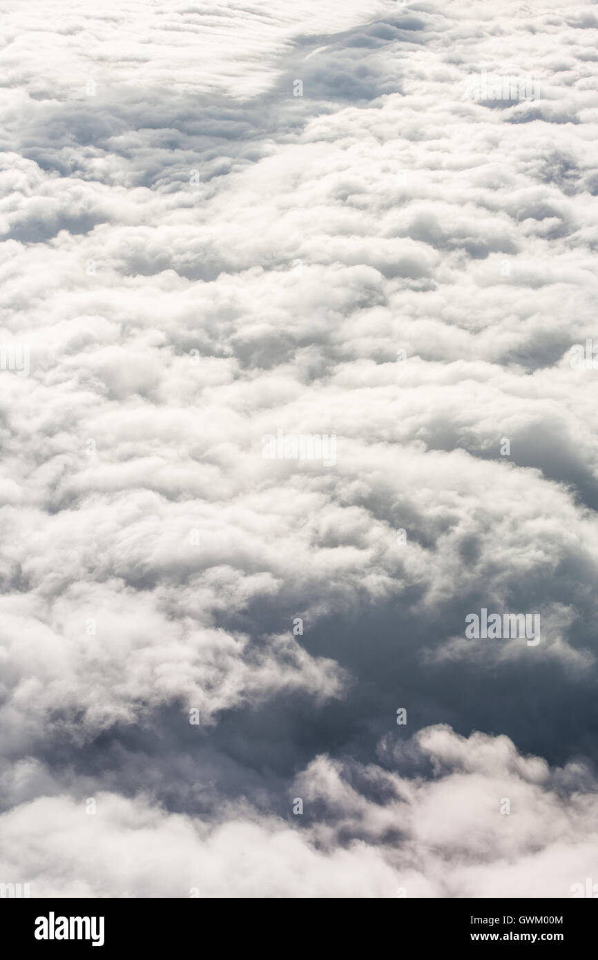 Cloud cover from above - Stock Image