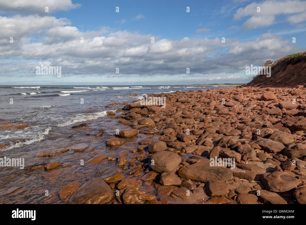 Beaches and coasts of Prince Edward Island. Gulf of Saint Lawrence. - Stock Image