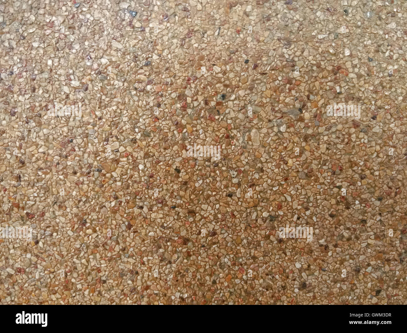 brown and grainy marble floor - Stock Image