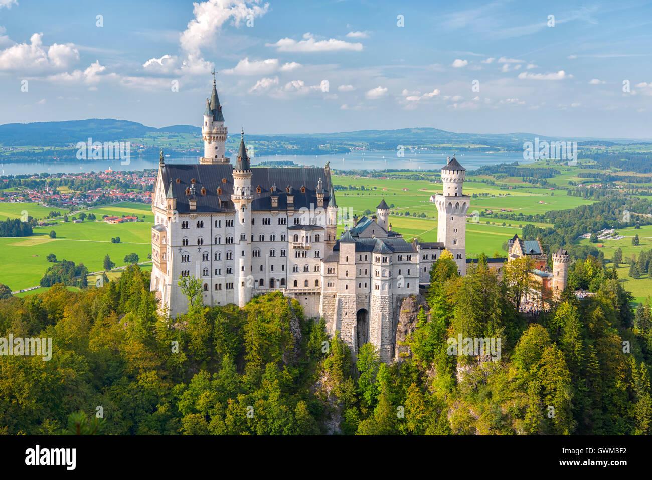 Neuschwanstein Castle in Hohenschwangau, Germany - Stock Image