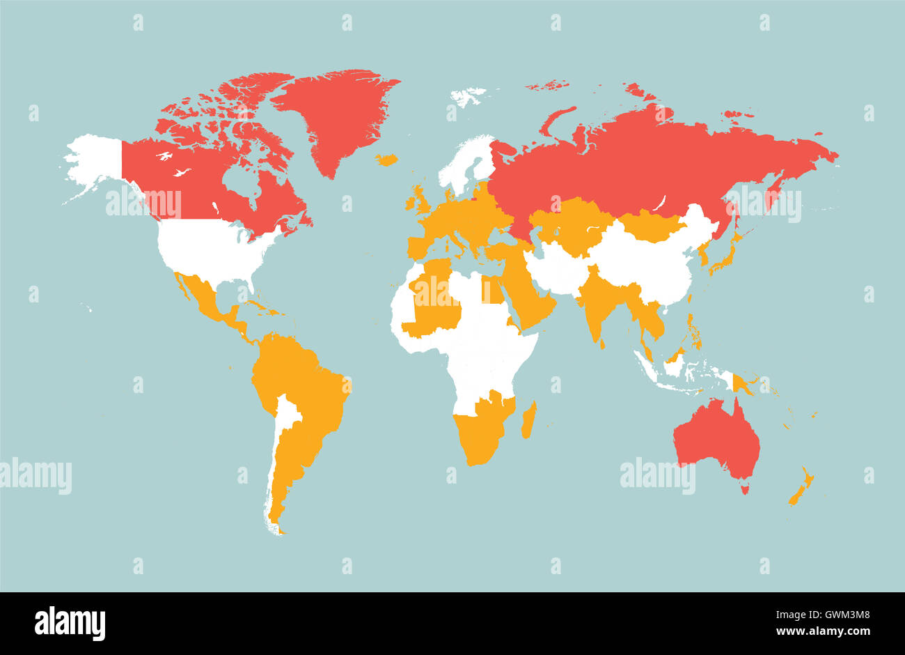 World map vector flat with countries blue stock photo 119070568 alamy world map vector flat with countries blue gumiabroncs Gallery