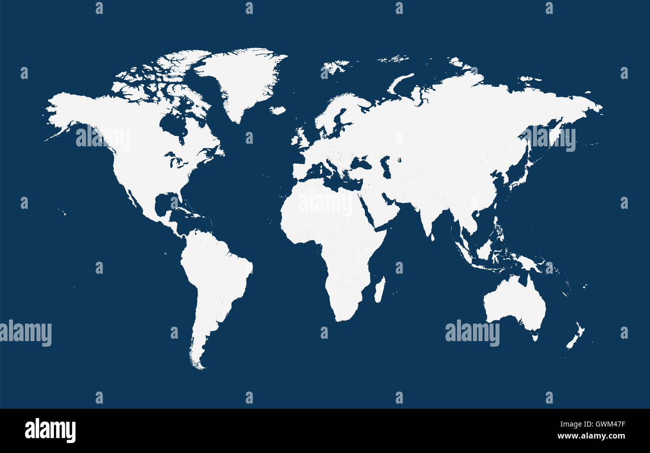 World map vector flat white color stock photo 119070995 alamy world map vector flat white color gumiabroncs Images