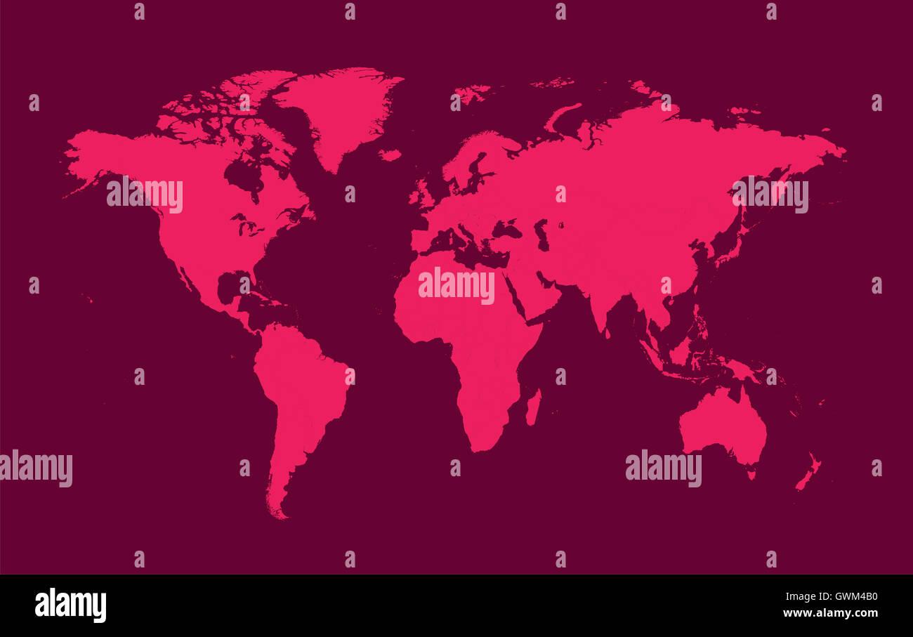 World map pink flat design stock photos world map pink flat design world map pink flat design stock image gumiabroncs Gallery