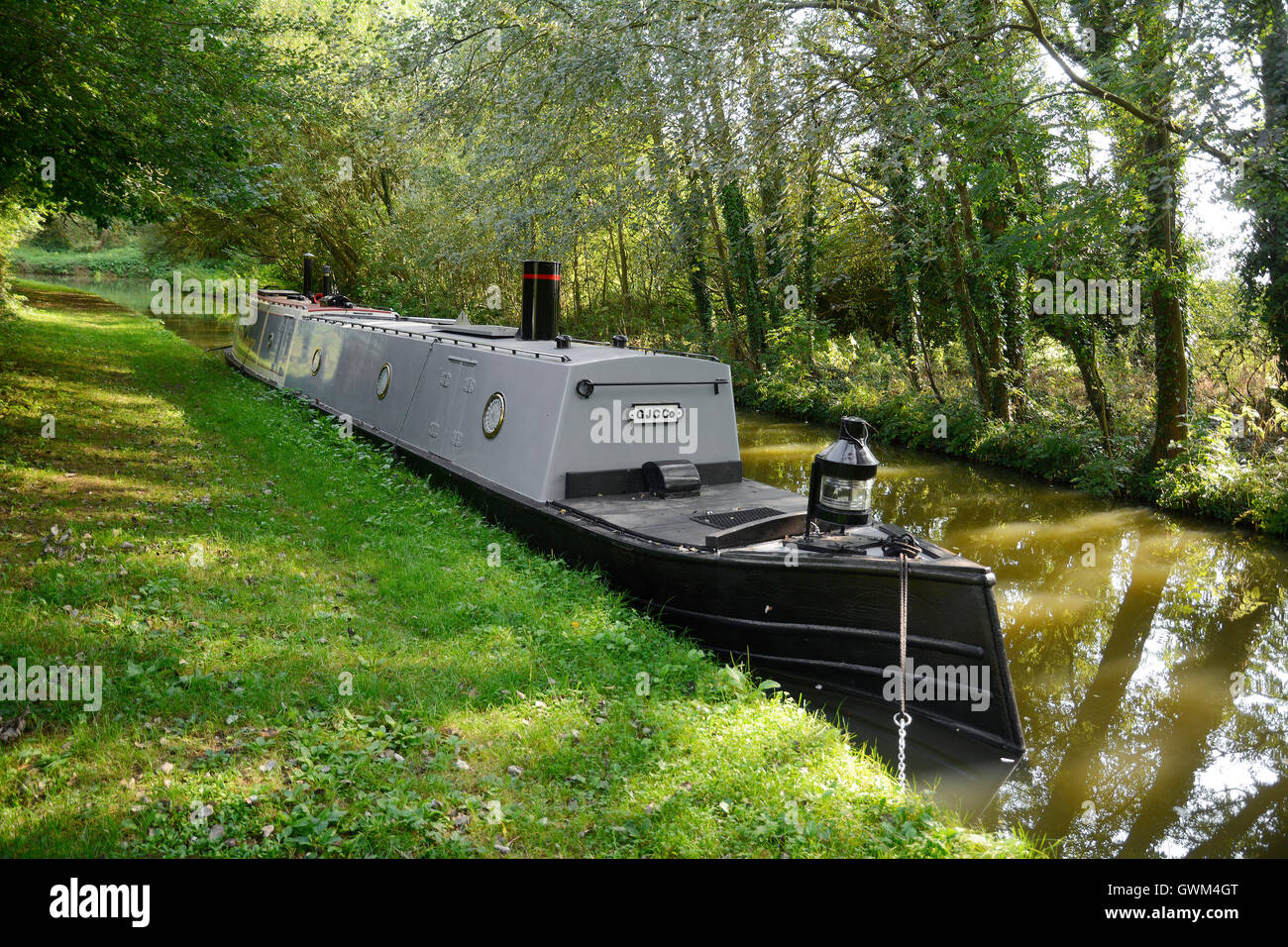 Steam tug 'Pilot', one of three used for pulling a string of boats through Braunston and Blisworth Tunnels - Stock Image