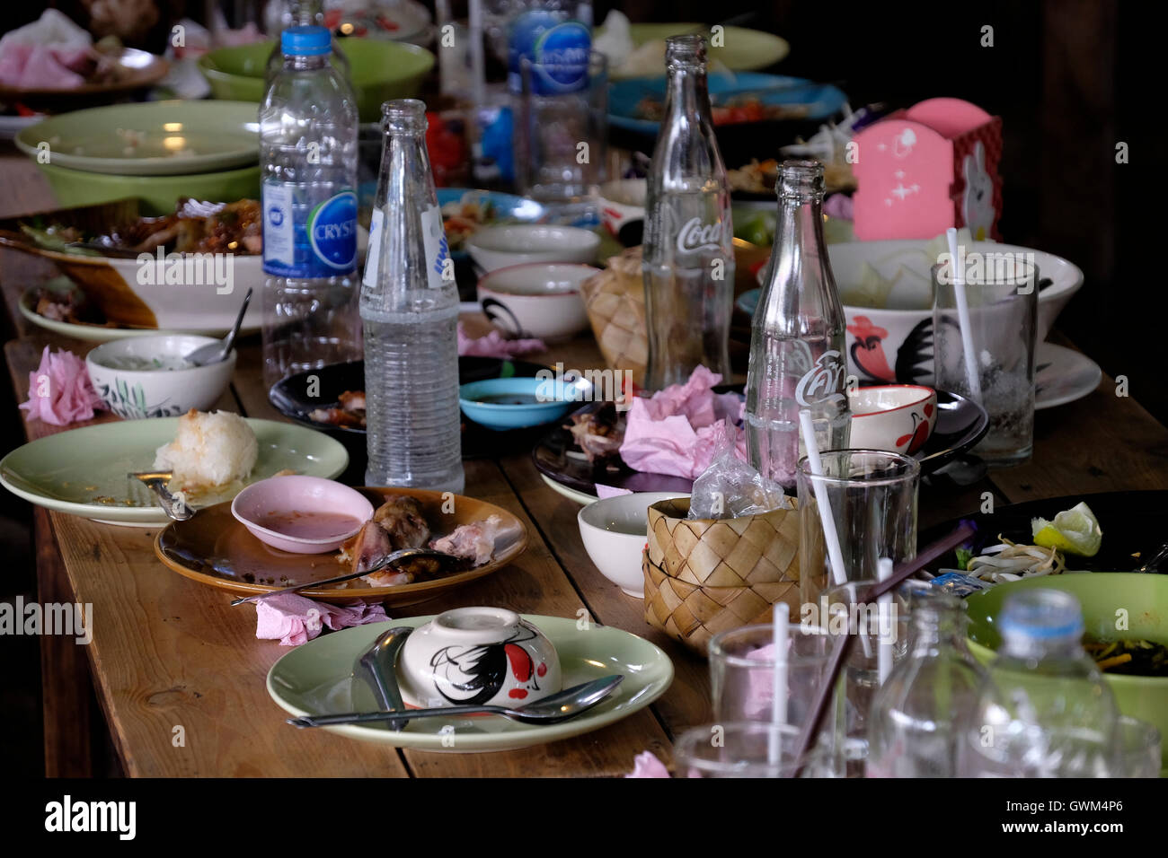 Dirty table - Stock Image