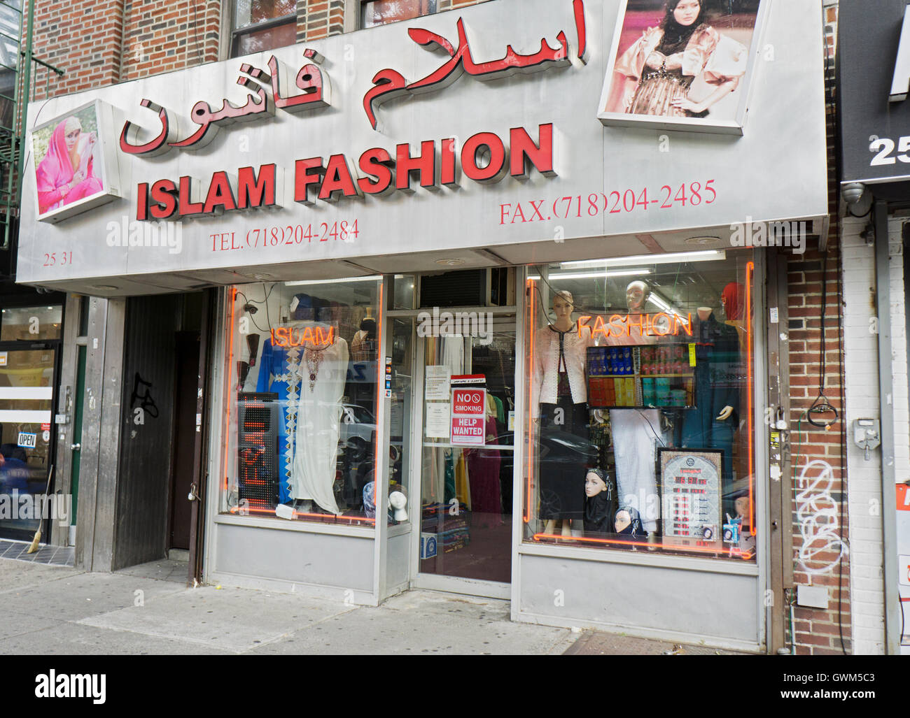 The ISLAM FASHION clothing store on Steinway Street in the Little