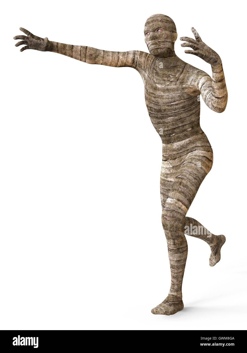 Mummy 3D Illustration - Stock Image