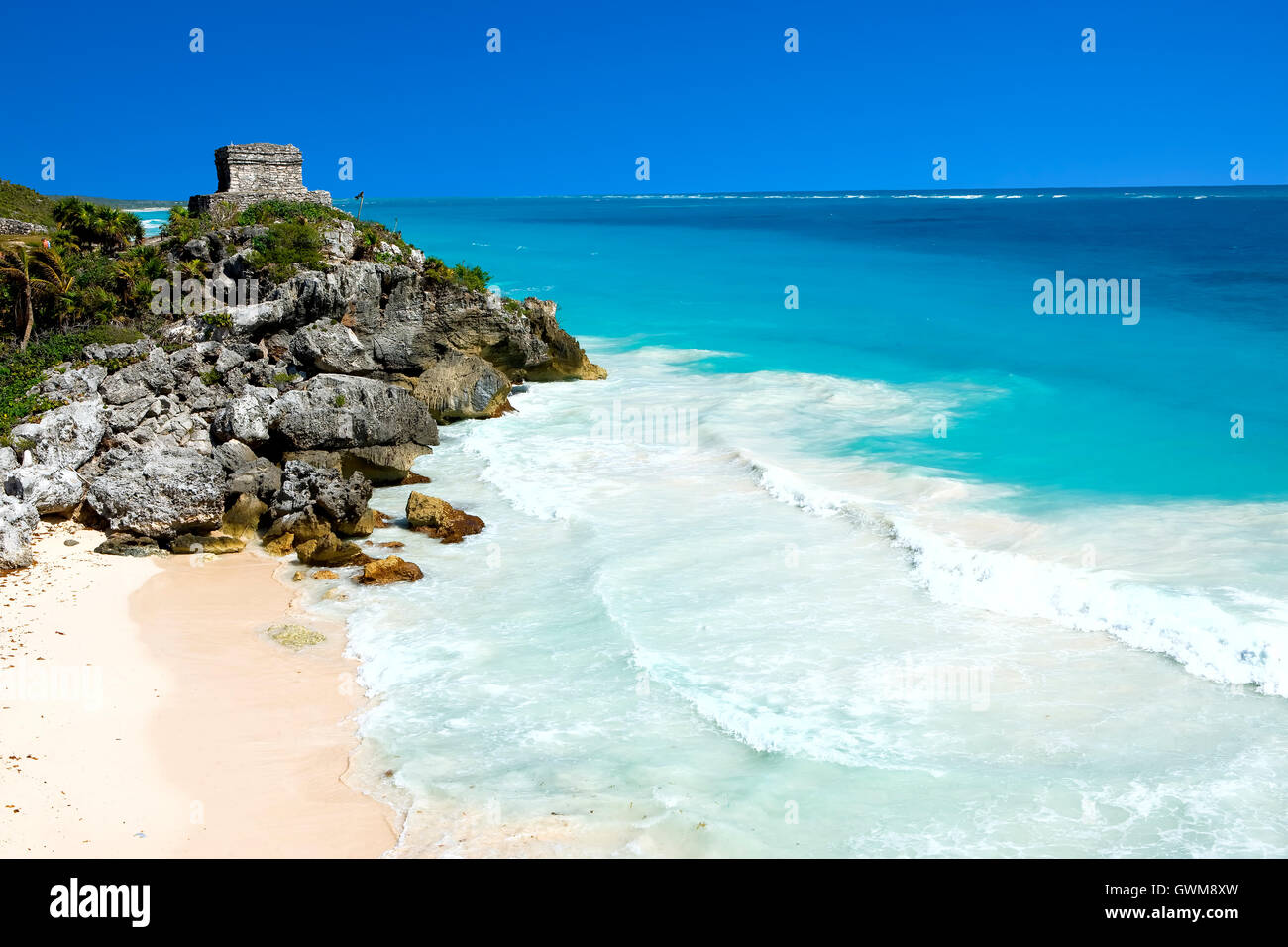 Ruins of  Tulum, riviera Maya, Mexico - Stock Image