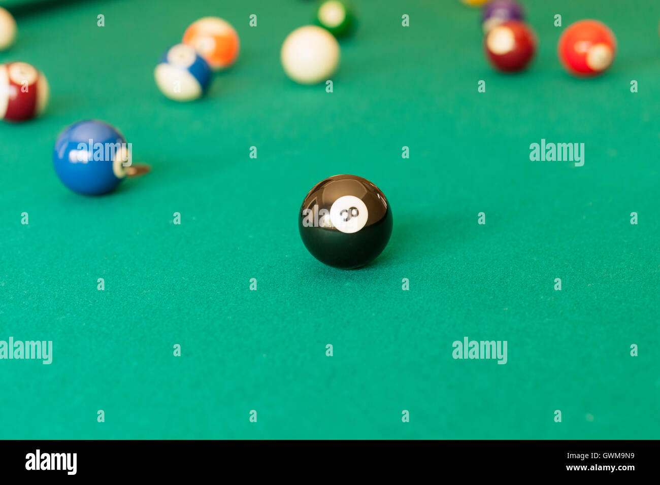 Billiard balls - Stock Image