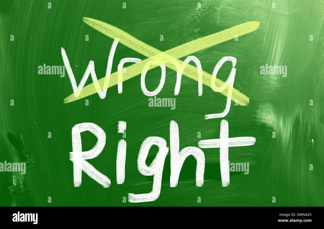 Right Concept Stock Photo