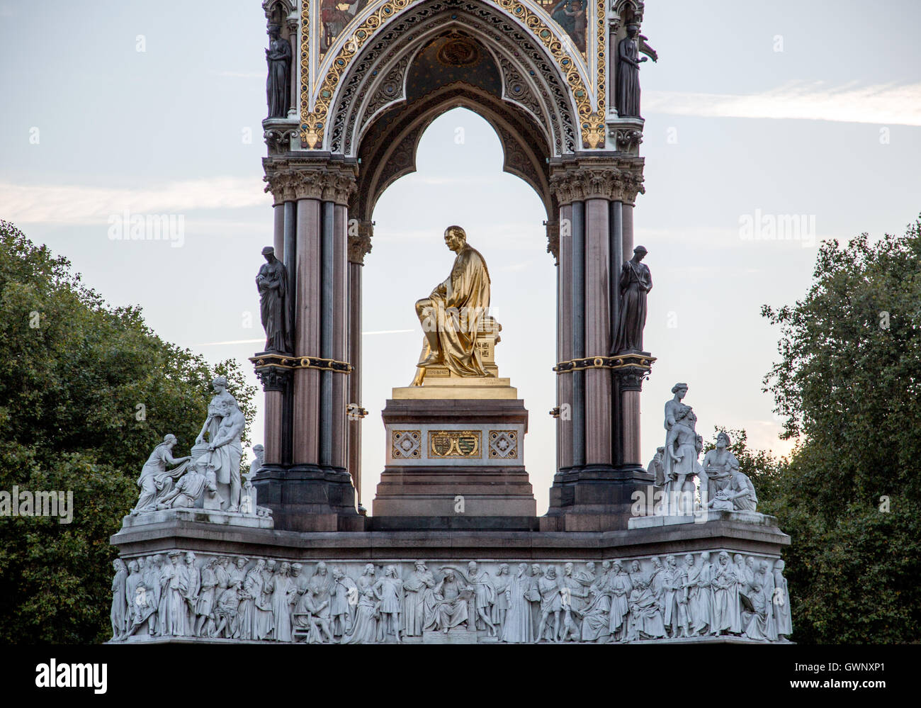 The Albert Memorial Kensington London UK - Stock Image