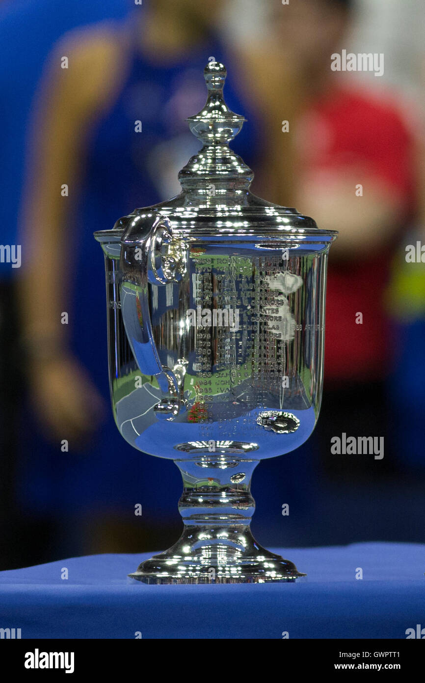 US Open Tennis championship trophy - Stock Image