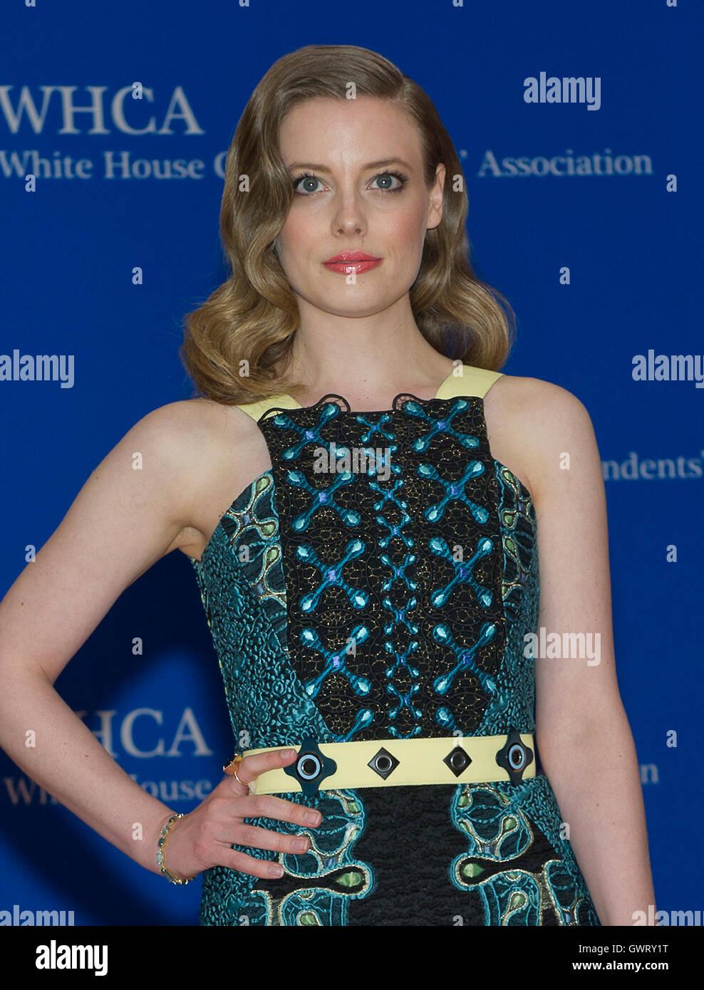 Gillian Jacobs arrives for the 2015 White House Correspondents Association Annual Dinner at the Washington Hilton Stock Photo
