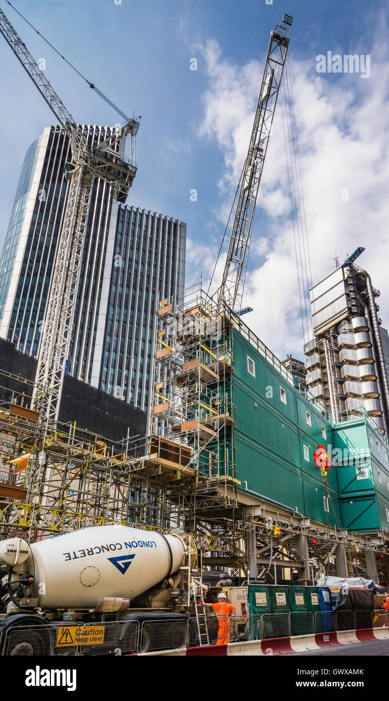 Great Britain, City of London, construction site in the Leadanhall Triangle, 40 Leadenhall Street - Stock Image