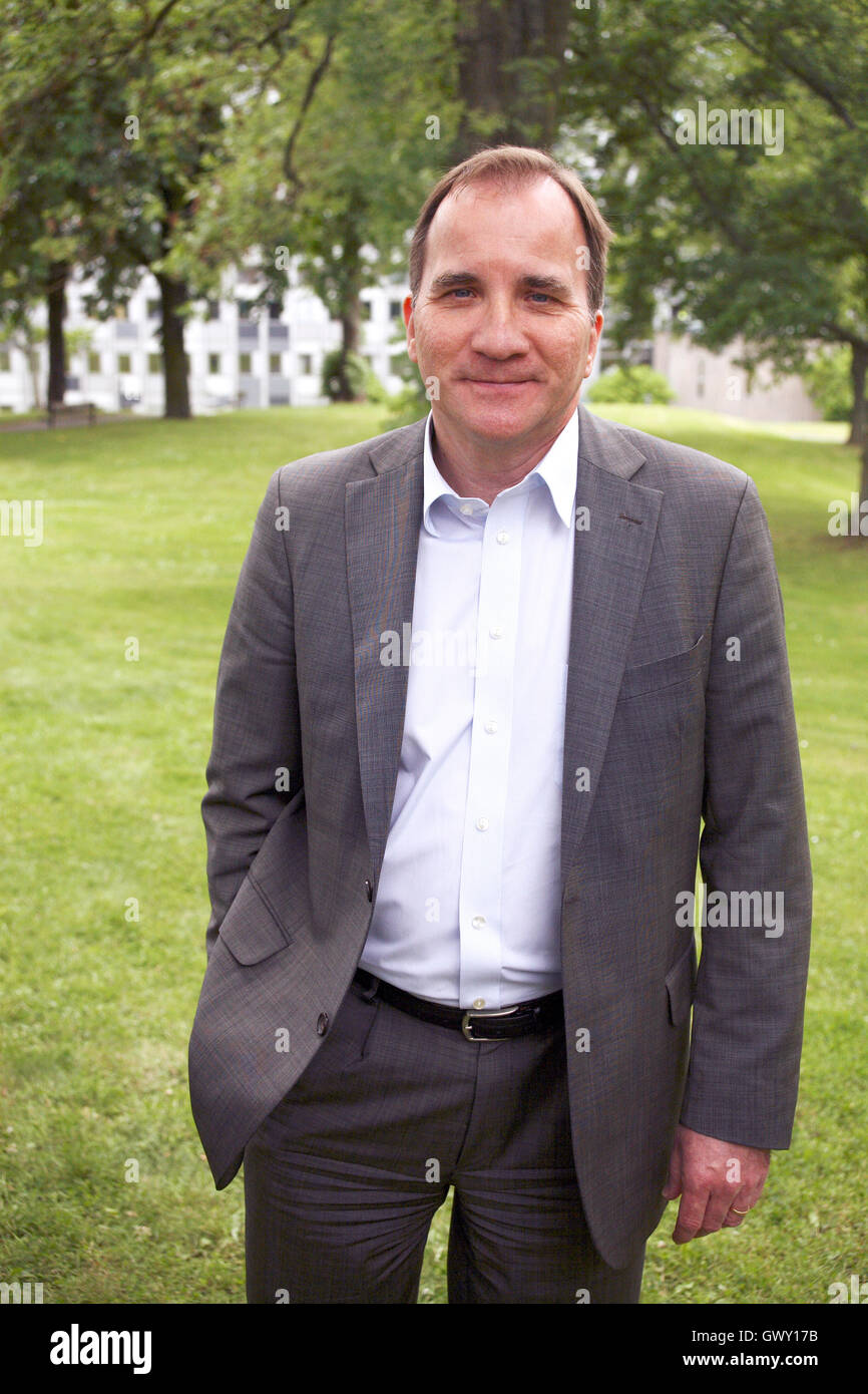 STEFAN LÖFVEN Swedish Prime minister 2014 - Stock Image